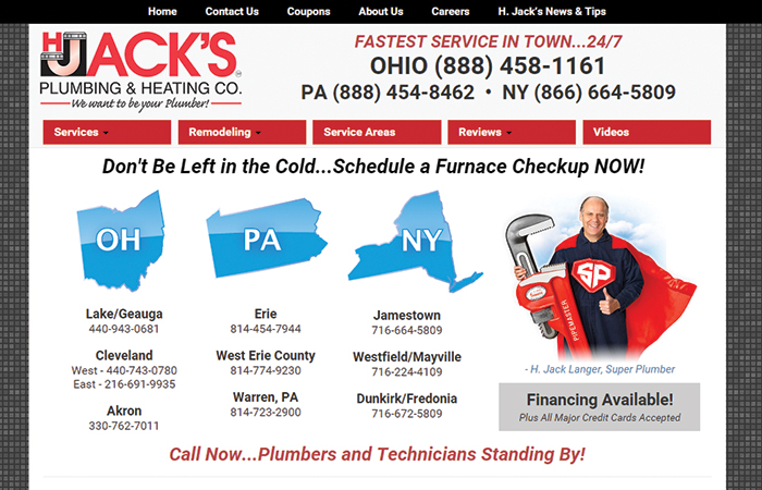 H Jack's Plumbing & Heating Co.