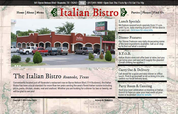 Italian Bistro, Roanoke Texas