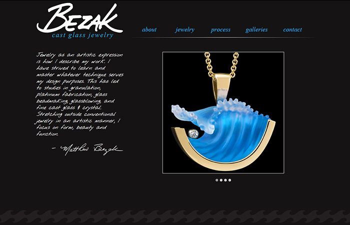 Matt Bezak Cast Glass Jewelry
