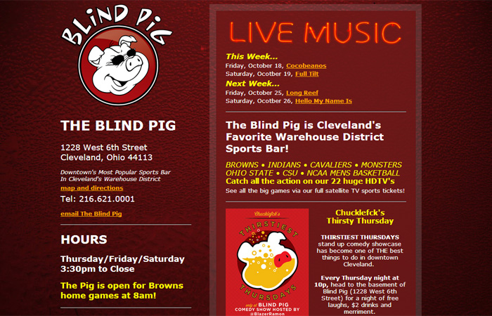 Website design maintenance email marketing social media seo the blind pig colourmoves Image collections